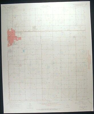 Levelland East Texas Hockley County 1966 vintage USGS original Topo chart map