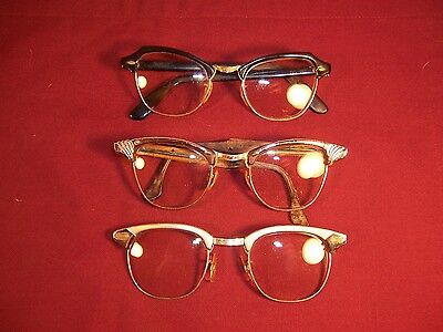 Vintage Optical Frame Cat Eye Glasses Lot of 3