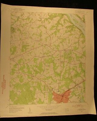 Aberdeen Maryland Susquehanna River 1953-5 vintage USGS Topographical chart