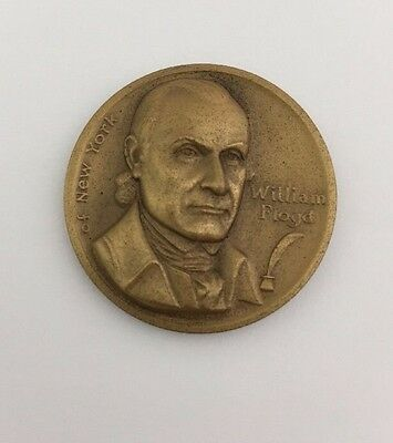 William Floyd - Ny Declaration Of Independence - Small Bronze Medal