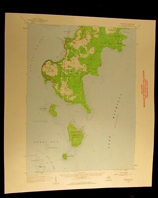 Fairport Michigan 1959 vintage USGS Topographical chart map