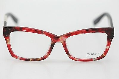 NWT Men's Colours Collection 101 Red/Black Square Eyeglasses 53/16/140 MSRP 79