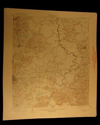Madisonville Kentucky 1941 vintage USGS Topographical chart map
