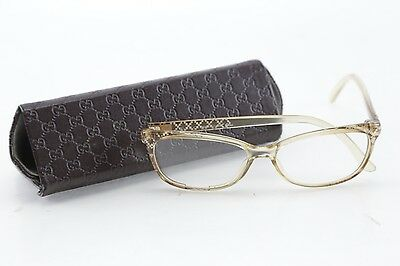 100% Authentic Gucci GG 3699 LBM Clear/Gold Eyeglasses 54/15/140
