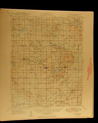 Gobles Michigan 1949 vintage USGS Topographical chart map