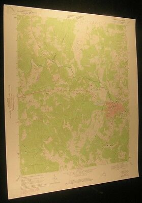 Farmville Virginia Raines Tavern 1975 vintage USGS original Topo chart map
