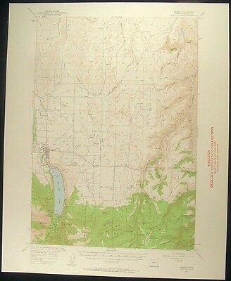 Joseph Oregon Wallowa Lake 1958 vintage USGS original Topo chart map