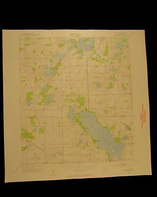 Delton Michigan Gull Lake Richland Ross vintage 1955 USGS Topographical chart