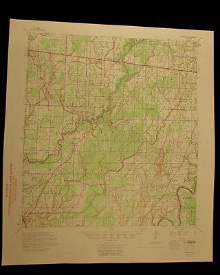 Baskinton Louisiana 1958 vintage USGS Topo color chart map