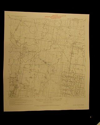 Monte Christo Texas 1956 vintage USGS Topographical chart map