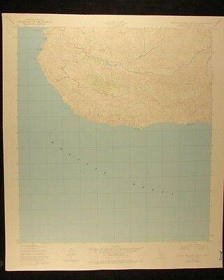 California Santa Catalina South vintage 1980 original USGS Topographical chart