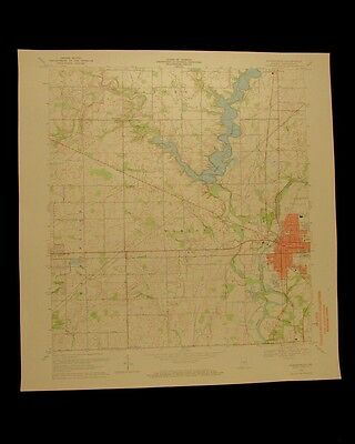 Noblesville Indiana vintage 1971 original USGS Topographical chart