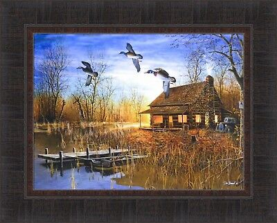 "My Favorite Place By Jim Hansel Duck Cabin  Print Image Size 12/"" x 16/"""