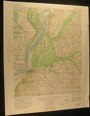 Hickman Kentucky Mississsippi River 1955 vintage USGS original Topo chart map