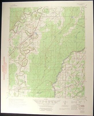 Bonita Louisiana Morehouse Parish 1958 vintage USGS original Topo chart map