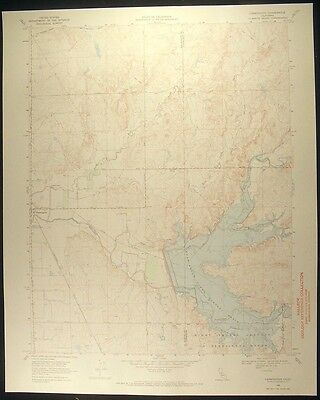 Farmington California San Joaquin Co. 1971 vintage USGS original Topo chart map