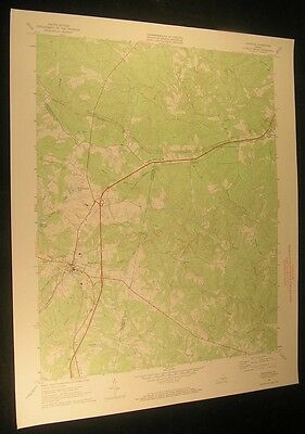 Keysville Virginia Bruceville Briery 1972 vintage USGS original Topo chart map