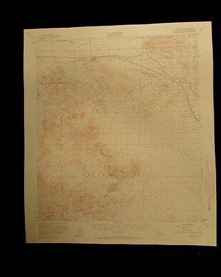 Ludlow California vintage 1960 original USGS Topographical chart