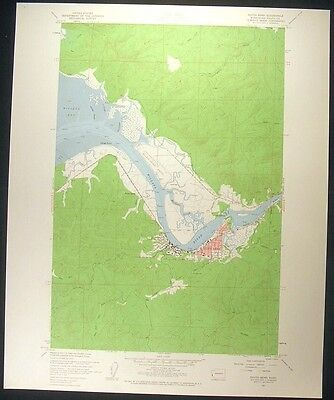 South Bend Washington Pacific County 1960 vintage USGS original Topo chart map