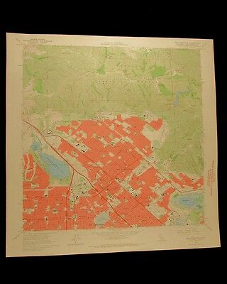 San Fernando Los Angeles California vintage 1967 USGS Topographical chart