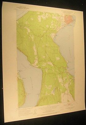 Port Townsend South Washington Hadlock 1955 vintage USGS original Topo chart map