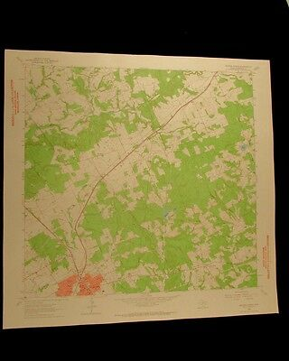 Hearne North Texas vintage 1964 original USGS Topographical chart