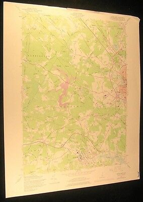 Dover West New Hampshire Durham Pudding Hill 1978 vintage color USGS map