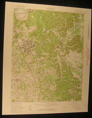 Vine Grove Kentucky Fort Knox Red Hill 1959 vintage USGS original Topo chart map