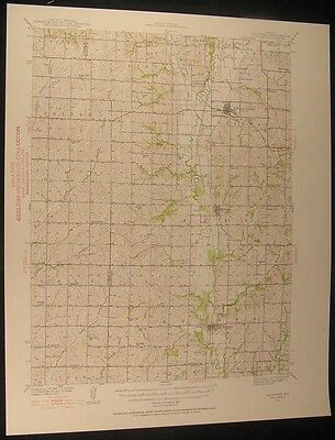 Skidmore Missouri Burlington Junction 1939 vintage USGS original Topo chart map