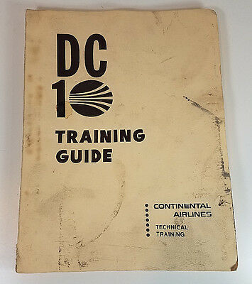 Vtg Continental Airlines DC 10 Training Guide McDonnell Douglas 1974
