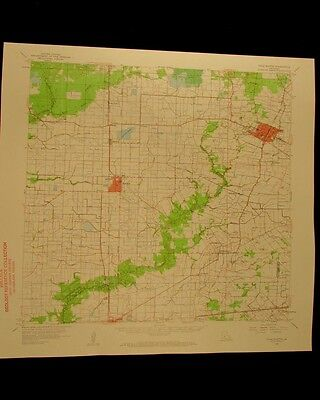 Ville Platte Quadrangle Mamou Eunice Louisiana vintage 1961 old USGS Topo chart
