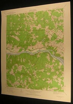Westhampton Virginia Lee Park Robious 1960 vintage USGS original Topo chart map
