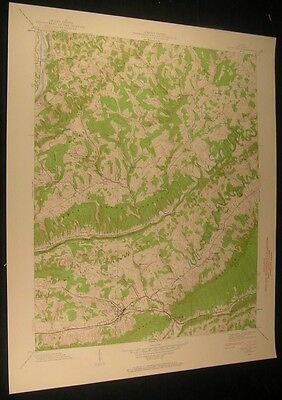 Gate City Virginia Slabtown Nottingham 1960 vintage USGS original Topo chart map