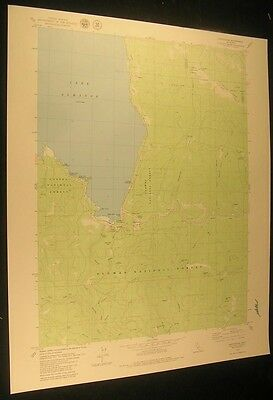 Canyondam California Grizzly Mine 1979 vintage USGS original Topo chart map
