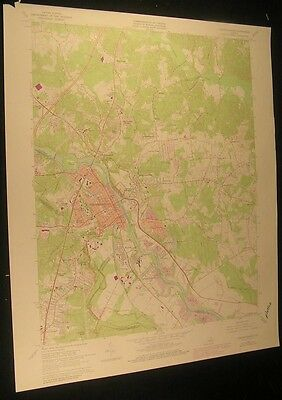 Fredericksburg Virginia Argyle Heights 1978 vintage USGS original Topo chart map