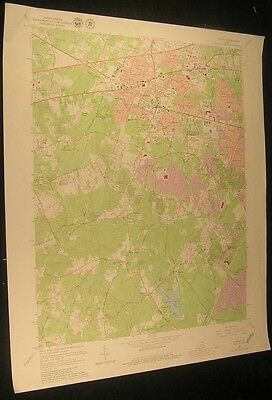 Fairfax Virginia Burke Lincoln Park 1980 vintage USGS original Topo chart map
