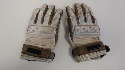 Icon 1000 Beltway Riding Gloves Tan Leather Size Large Nice Used