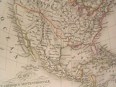 North America Columbia Oregon 1825 Vivien scarce antique engraved hand color map