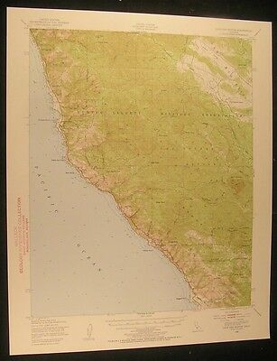 Cape San Martin California Lion Peak 1955 vintage USGS original Topo chart map