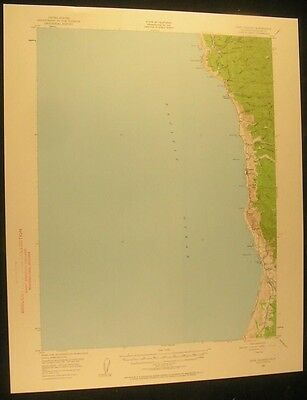 Cape Vizcaino California Westport 1960 vintage USGS original Topo chart map