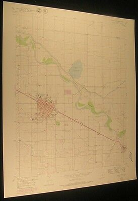 Rocky Ford Colorado Fort Lyon Canal 1979 vintage USGS original Topo chart map
