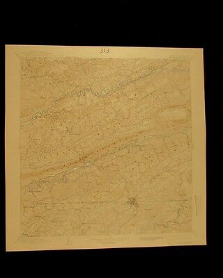 Bristol Virginia Tennessee vintage 1939 original USGS Topographical chart