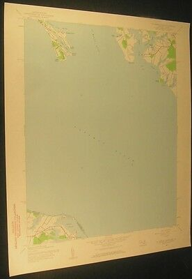 St Georges Island Maryland Kitts Point 1961 vintage USGS original Topo chart map