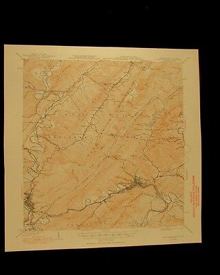 Clifton Forge Virginia West Virginia 1949 original USGS Topographical chart