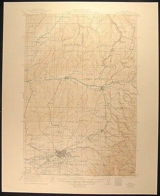 Walla Walla Washington Waitsburg 1949 vintage USGS original Topo chart map
