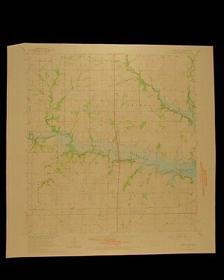 Lyndon NW Kansas vintage 1966 original USGS Topographical chart