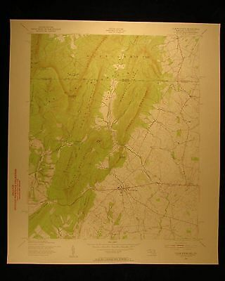 Maryland Pennsylvania Clear Spring vintage 1956 original USGS Topographical char