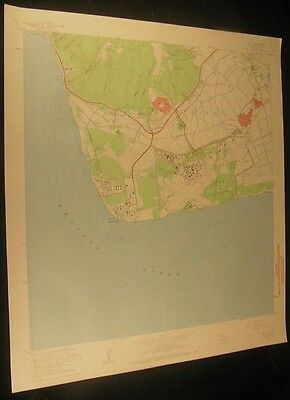 Ewa Hawaii Barbers Point Nimitz Beach 1970 vintage USGS original Topo chart map