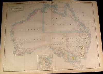 Australia Gold District Torrens Basin hook shape 1853 scarce A&C Black folio map