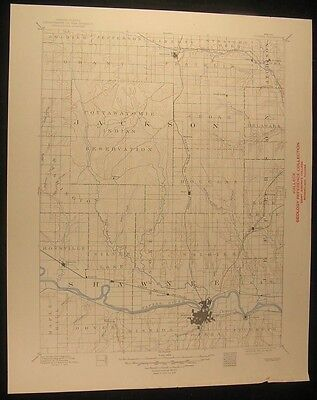Topeka Kansas Central Railroad Rossville 1949 vintage USGS original map